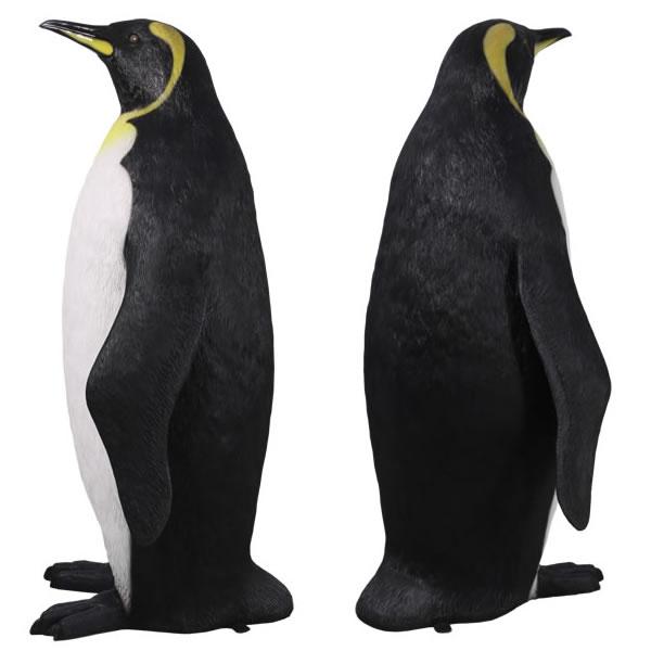 大きい 180cm ペンギン 置物 コウテイペンギン オブジェ 鳥 オーナメント ディスプレー グッズ 代金引換不可 ディスプレイ FRP制 リアル キングペンギン