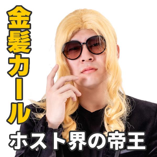 金髪 ロング カール ホスト かつら おもしろ カツラ 面白い ものまね 新ホスト界の帝王