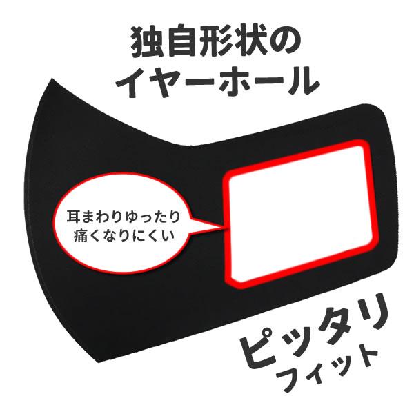 マスク 黒 イニシャル入り 名前 プリント オリジナル 黒 男女兼用 UV ペア 交換 プレゼント