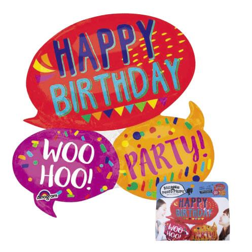 風船 バルーン バルーンフォトプロップス ジャイアントハッピーワーズ SNS 写真 投稿 インスタ facebook 誕生日 お誕生日会 birthday バースデー