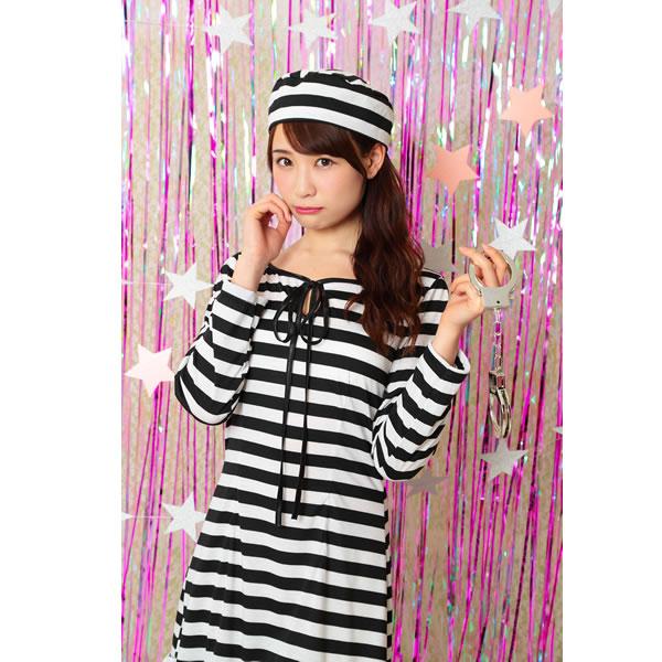 囚人 コスチューム 囚人服 衣装 レディース ハロウィン TG プリズナ トキメキグラフィティ