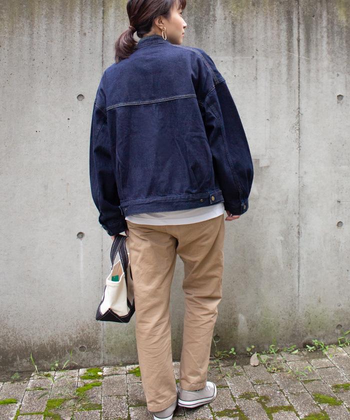 【Hunch ハンチ】10.5oz デニム スタンドカラー フリンジ ジャケット