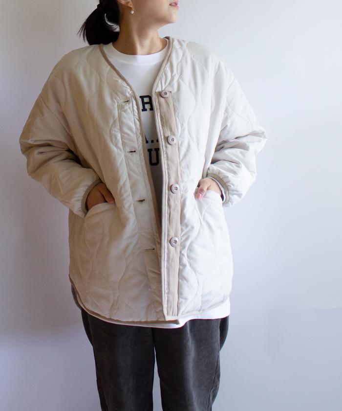 【collect by Hunch コレクトバイハンチ】マット ポリエステル キルティング 中綿 コート