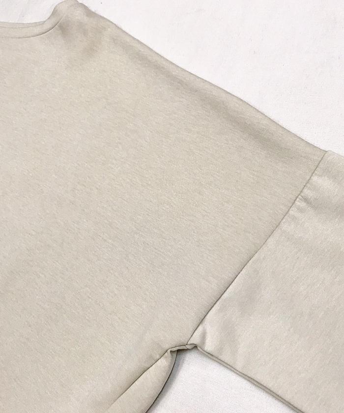 【ALL ORDINARIES オールオーディナリーズ】 袖口 AO 刺繍 後ろ タック プルオーバー