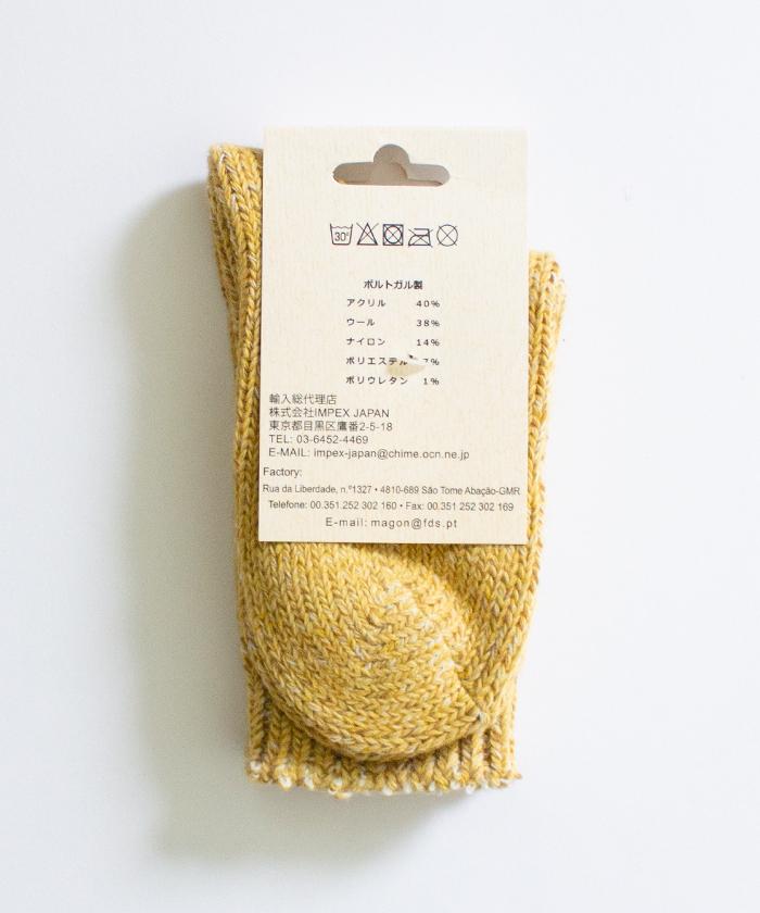 【H FOOTWEAR エイチ フットウェア】 ウール ソックス CHINE
