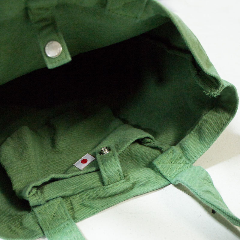 【MAKE UP メイクアップ】 製品染め 数字 プリント トートバッグ