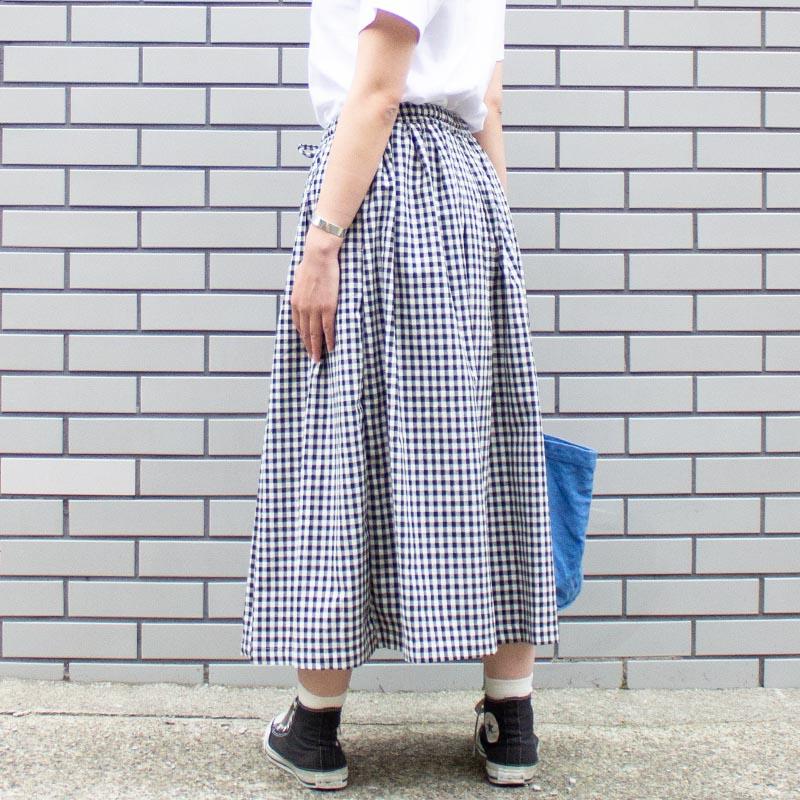 【ALL ORDINARIES オールオーディナリーズ】 綿麻ギャザー たっぷり スカート