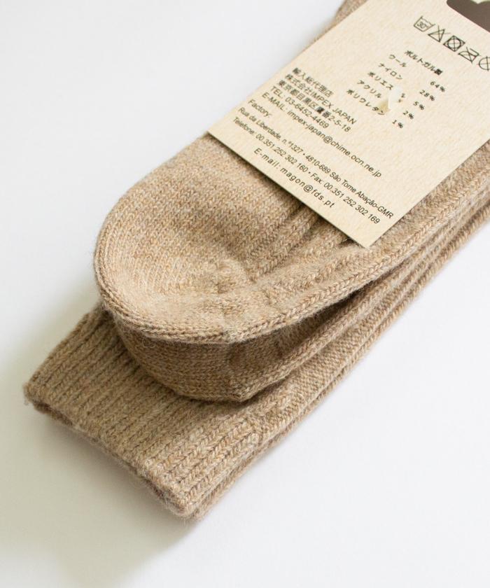 【H FOOTWEAR エイチ フットウェア】 ウール ソックス CABLE