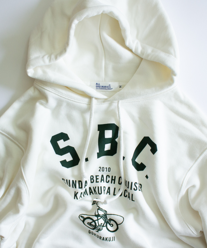【SUNDAY BEACH CRUISER サンデービーチクルーザー】S.B.C. ロゴ プル パーカー
