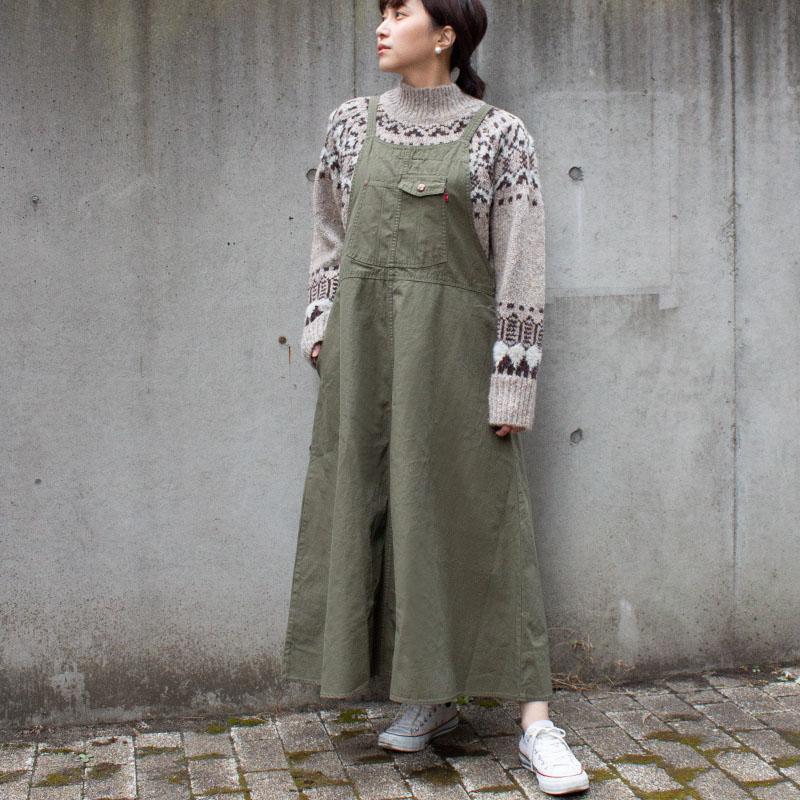 【ALL ORDINARIES オールオーディナリーズ】 デニム/バックツイルジャンパー スカート