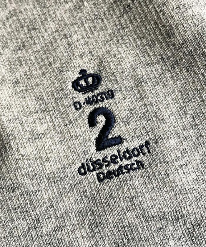 【ALL ORDINARIES オールオーディナリーズ】 王冠刺繍 クルーネック スウェット