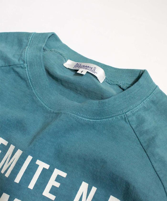 【ALL ORDINARIES オールオーディナリーズ】 別注 ピグメント染 YOSEMITE ラグラン Tシャツ