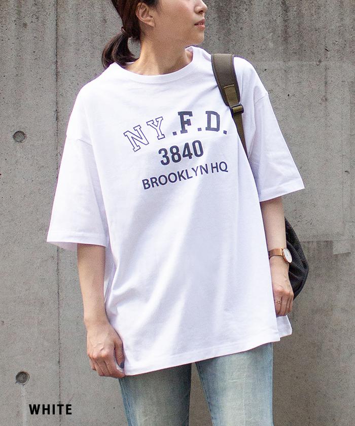 【ALL ORDINARIES オールオーディナリーズ】 NY.F.D.3840 ビッグシルエット 半袖 Tシャツ
