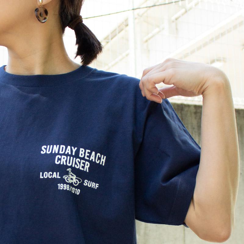 【SUNDAY BEACH CRUISER サンデービーチクルーザー × ALL ORDINARIES オールオーディナリーズ】 コラボ 波まち MILEY 半袖 Tシャツ