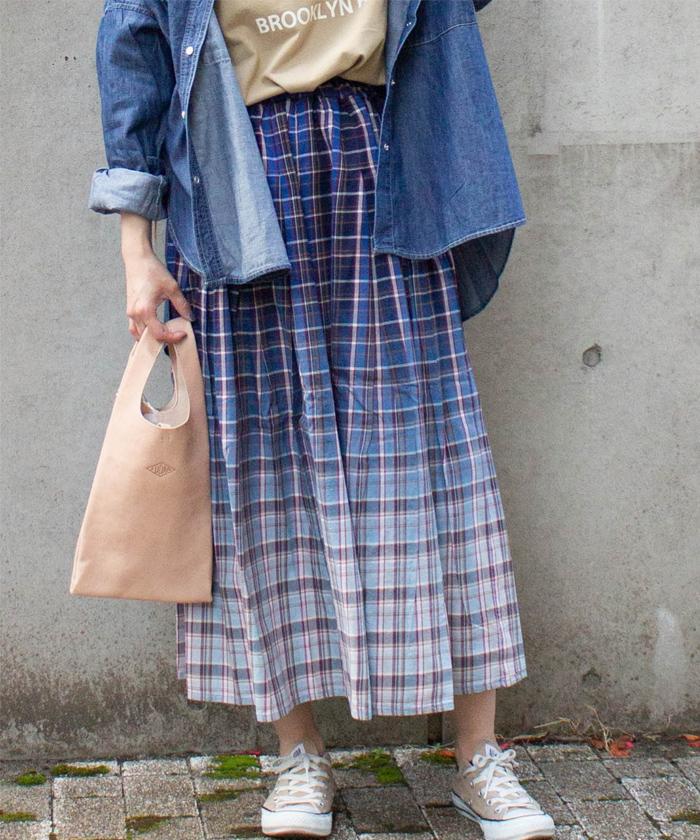 【ALL ORDINARIES オールオーディナリーズ】 グラデーション ロング スカート