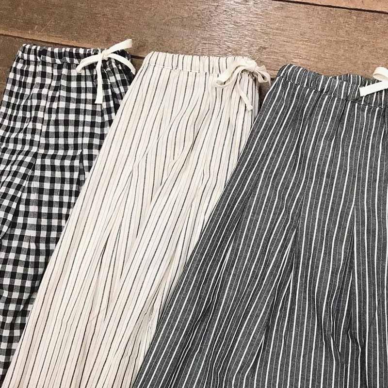【ALL ORDINARIES オールオーディナリーズ】 ストライプ ギャザータック スカート
