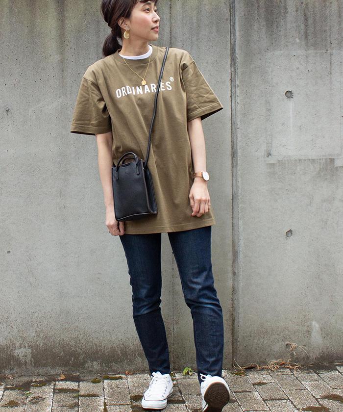 【ALL ORDINARIES オールオーディナリーズ】 ストレート ロゴ 半袖 Tシャツ 2021