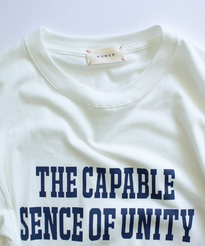 【Hunch ハンチ】SENCE OF UNIYT ロゴ 半袖 Tシャツ