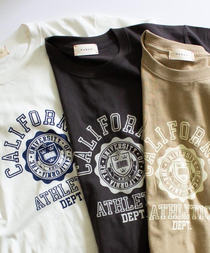 【Hunch ハンチ】CALIFOLNIA ロゴ 半袖 Tシャツ