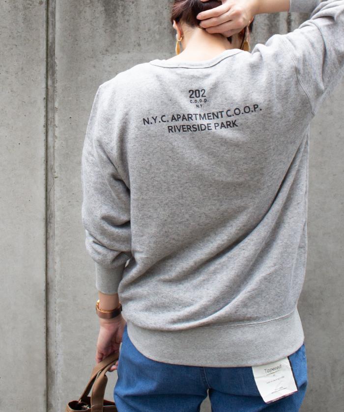 【ALL ORDINARIES オールオーディナリーズ】 202 フレンチテリー クルーネック ロゴ スウェット