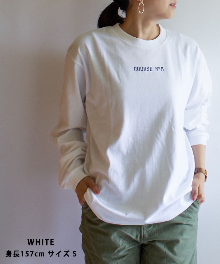 【ALL ORDINARIES オールオーディナリーズ】 COURSE No5 ロゴ 長袖 Tシャツ