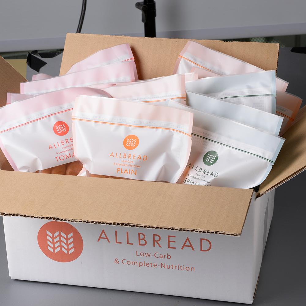 定期購入 ALLBREAD 18個入りを毎月お届け (プレーン トマト ほうれん草の3つのフレーバーからお選びいただけます)code1