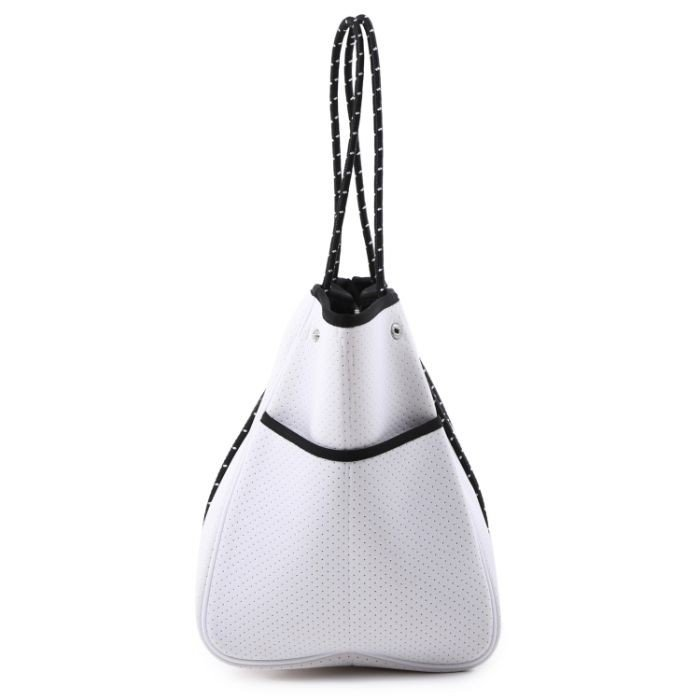 送料無料 レディースバッグ allecore ネオプレン トートバッグ マザーズバッグ サイドポケット ポーチ付き 大容量 大きめ ハンドバッグ ALC031