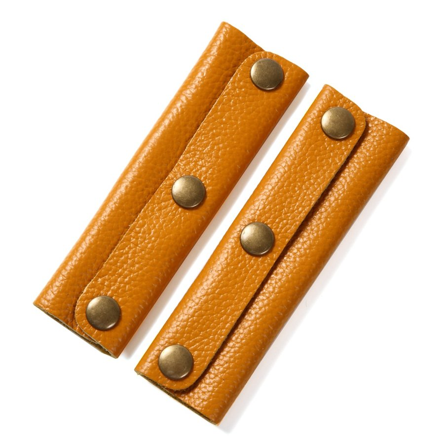 allecore 本牛革製 バッグ 大判 ハンドルカバー 全12色 2枚組 持ち手 カバー