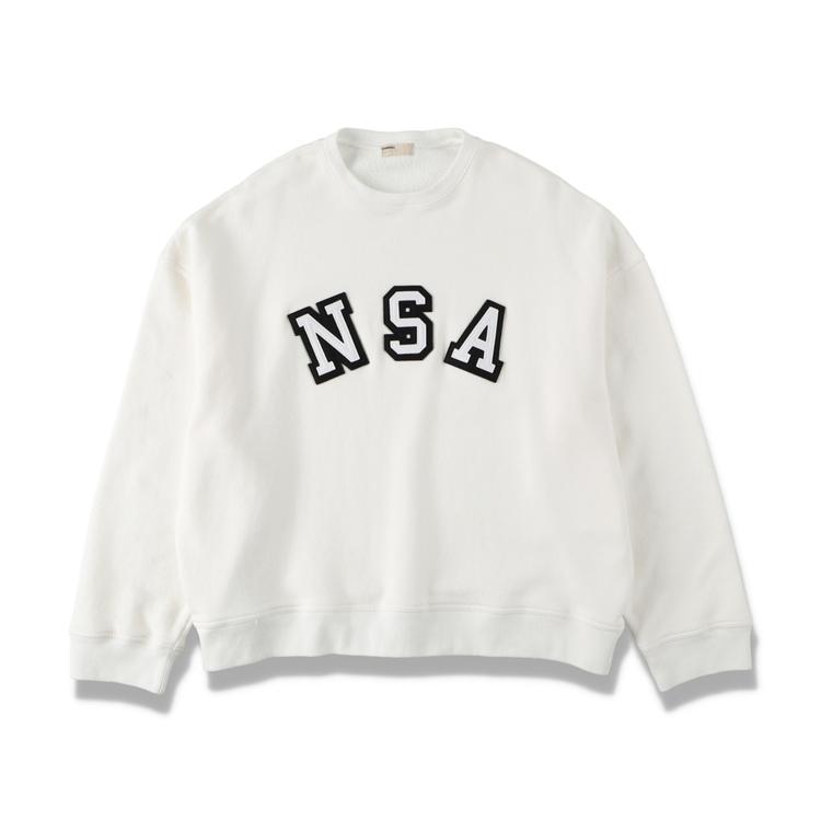 NAISSANCE ネサーンス NSA CREW SWEAT スウェット WHITE 21S-NSA-CS-02