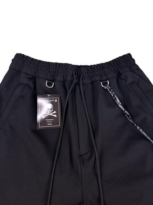 mastermind JAPAN マスターマインドジャパン ポリエステルジャージ  2WAYシリコンプリント+ジャガードテープ ブラック(ブラックテープ) MJ20E04-PA048-601 / ショートパンツ