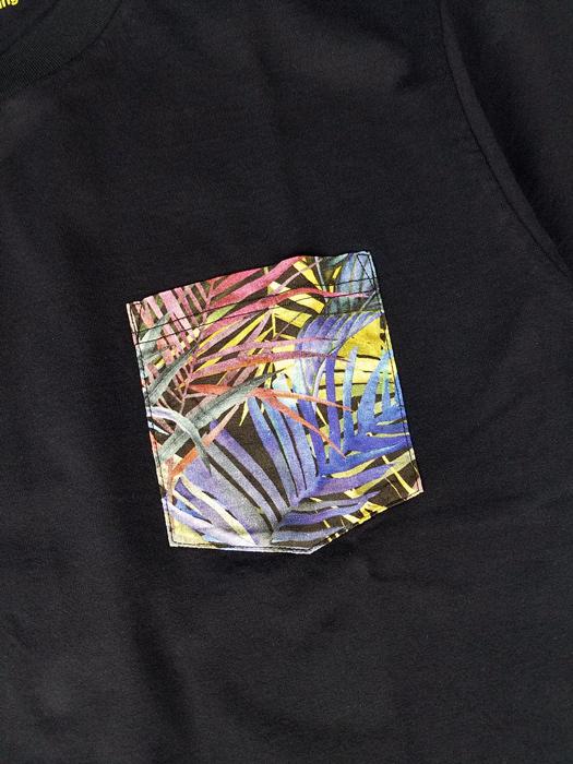 White Mountaineering ホワイトマウンテニアリング BOTANICAL PRINTED POCKET T-SHIRT ボタニカルプリント ポケットTシャツ ブラック WM2071507