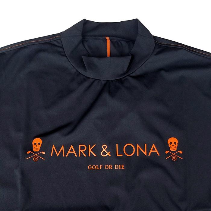 MARK&LONA マークアンドロナ 4get Round Top   MEN モックネックTシャツ レッド MLM-0C-AA02