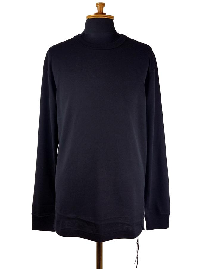 mastermind JAPAN マスターマインドジャパン 長袖Tシャツ 天竺 レギュラーフィット 発泡+ラバープリント ブラック MJ20E05-TS108-018