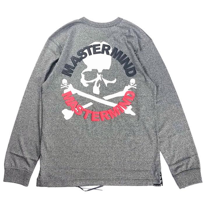 mastermind JAPAN マスターマインドジャパン 長袖Tシャツ 天竺 レギュラーフィット 発泡+ラバープリント トップグレー MJ20E05-TS108-018