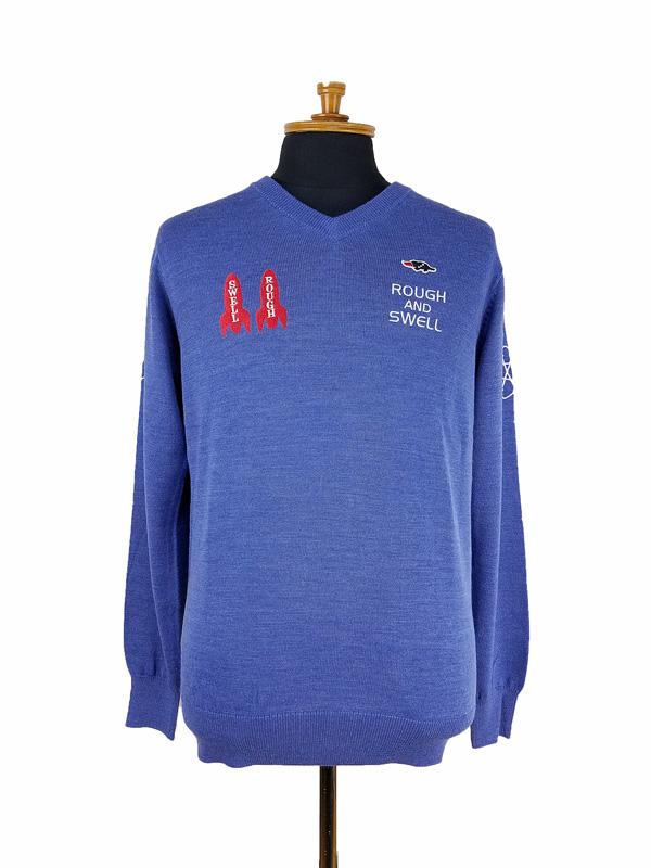 rough&swell ラフアンドスウェル GALAXY V-NECK ニット ブルー RSM-21271 / ゴルフウェア メンズ ラフ&スウェル