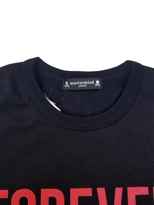 mastermind JAPAN マスターマインドジャパン 長袖Tシャツ 天竺 レギュラーフィット メタリックプリント ブラック MJ20E05-TS095-018
