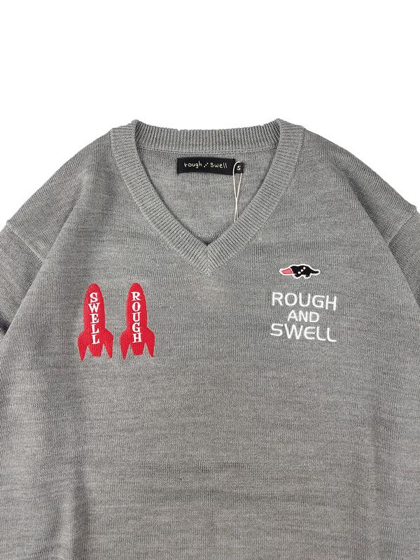 rough&swell ラフアンドスウェル GALAXY V-NECK ニット グレー RSM-21271 / ゴルフウェア メンズ ラフ&スウェル