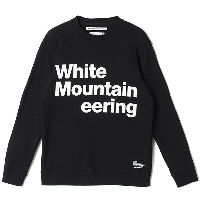 White Mountaineering ホワイトマウンテニアリング ロゴプリント スウェット ブラック LOGO PRINTED SWEATSHIRT  'White Mountaineering' WM1973508