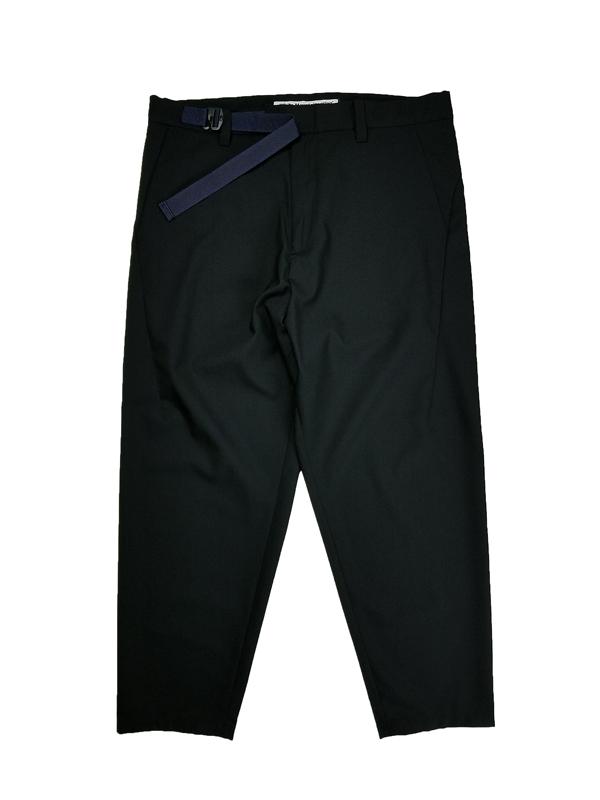 White Mountaineering ホワイトマウンテニアリング TROPICAL T/W BELTED PANTS ベルトパンツ ネイビー WM2171408