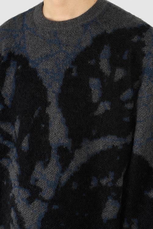 LAD MUSICIAN ラッドミュージシャン CREW NECK PULLOVER ニットプルオーバー ダークグレー 2221-011