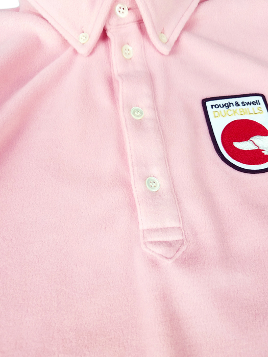 rough&swell ラフアンドスウェル プルオーバーシャツ マイクロフリース ピンク HOFFMAN SHIRT RSM-19202 / ラフ&スウェル ゴルフウェア メンズ