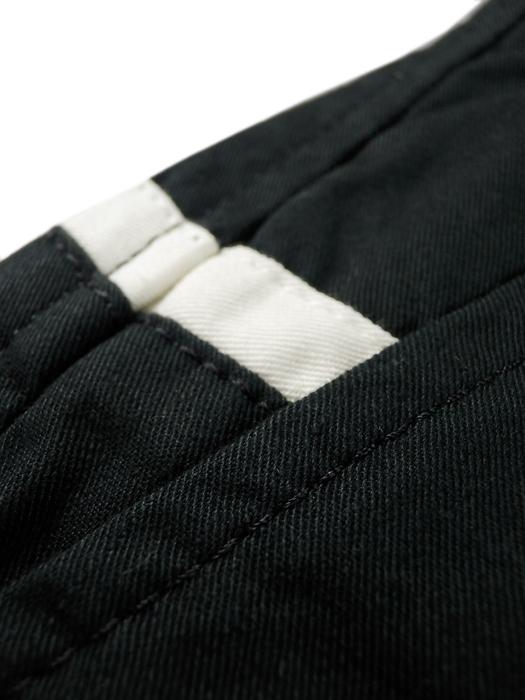 .efilevol エフィレボル コットンパンツ ブラック efi10ms-PT03