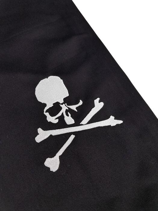 mastermind JAPAN マスターマインドジャパン マスターシードサテン イージーパンツ 刺繍 ブラック MJ19E03-PA025-001