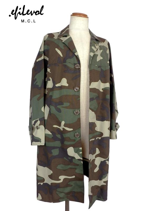 .efilevol エフィレボル ミリタリーカモフラージュコート Military Camouflage Coat PF-OT03 / アウター レインコート