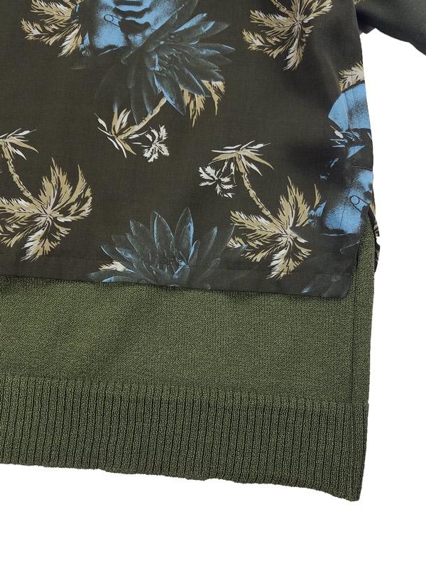 UNDERCOVER アンダーカバー Ry総柄裾KNアロハシャツ PINE  ブラック UC1A4407-1
