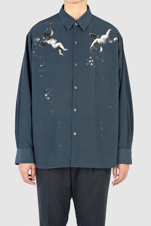 LAD MUSICIAN ラッドミュージシャン BIG SHIRT ビッグシャツ ダークスレート 2221-153