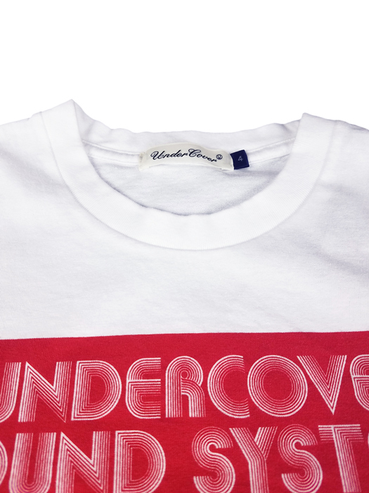 UNDERCOVER アンダーカバー LSTEE UC SOUNDSYSTEMS SN 長袖Tシャツ ホワイト UCY4892-4 / ロンT