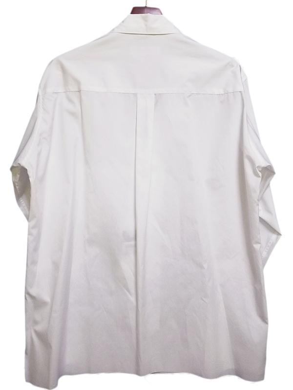 sulvam サルバム オープンカラーシャツ ホワイト open collar SH SJ-B02-001