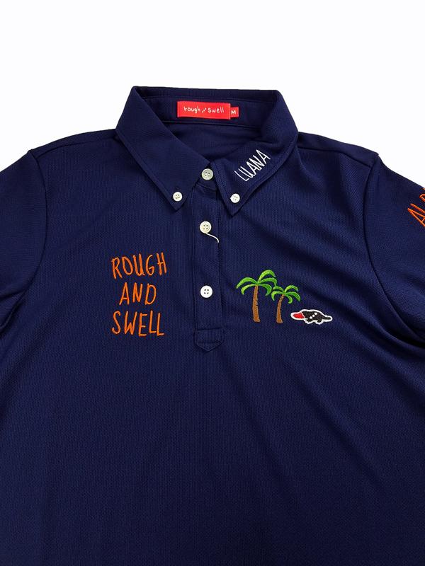 【WOMEN】 rough&swell for WOMEN ラフアンドスウェル ウィメン PARADIS POLO W. ポロシャツ ネイビー RSL-21003 / ゴルフウェア レディース ラフ&スウェル