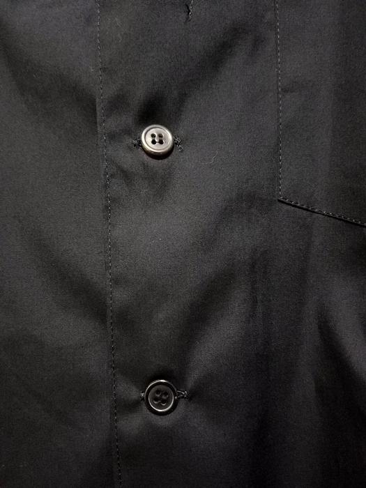 sulvam サルバム オープンカラーシャツ ブラック open collar SH SJ-B02-001